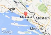 Marina Baška Voda Map