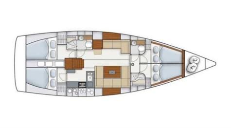 Hanse 445 hanse445-layout