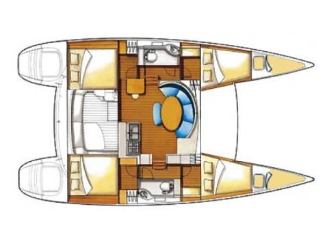 Lagoon 380 Premium layout-6cabins