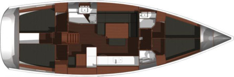 Dufour 445 Grand Large layout-144