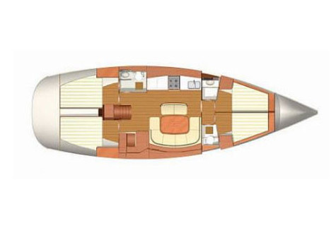 Dufour 455 Grand Large layout-145