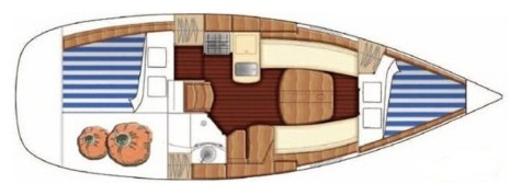 Beneteau First 31.7 layout-24