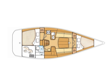 Beneteau First 35 layout-25