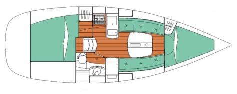 Beneteau Oceanis 323 layout-28