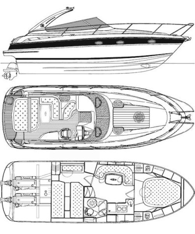 Bavaria 33 Sport layout2-3