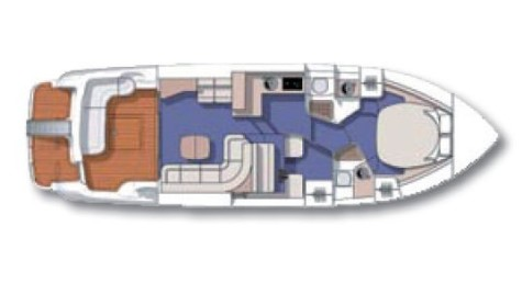 Cranchi 40 Atlantique Fly layout-32