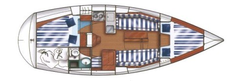 Dufour 32 Classic layout-37