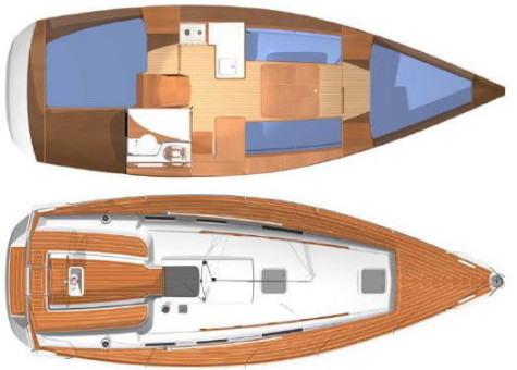 Dufour 325 Grand Large layout-38