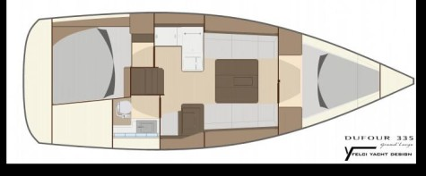 Dufour 355 Grand Large layout-39
