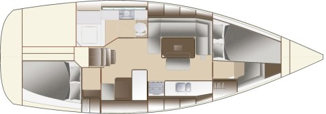 Dufour 380 Grand Large layout-40