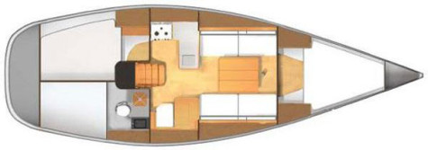Dufour 34 Evolution Performance layout-63