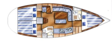 Dufour 36 Classic layout-64