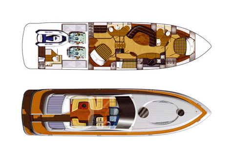 Fairline Targa 62 layout-72