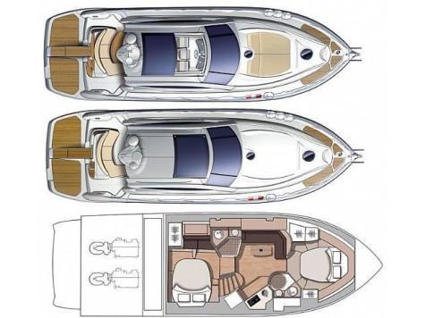 Cranchi 43 Mediterrane layout-33