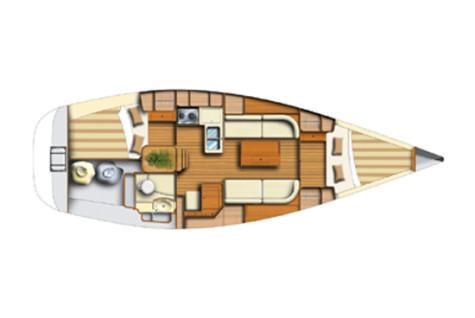 Dufour 34 Classic plan-2kabine