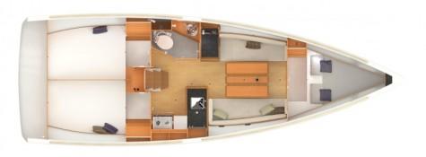 Sun Odyssey 349 plan-3kabine-2