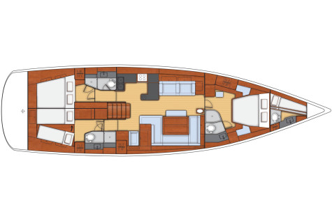 Beneteau Oceanis 58 plan-4-kabine
