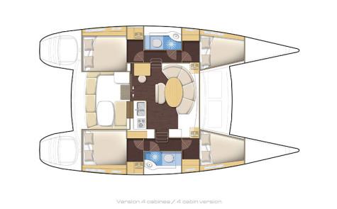 Lagoon 380 Premium plan-4cabins