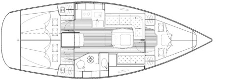 Bavaria 35 Cruiser plan-2