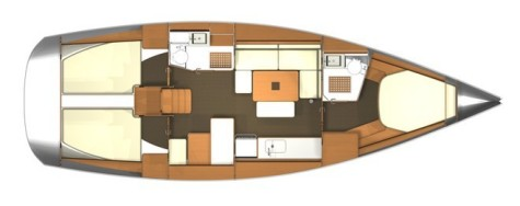 Dufour 405 Grand Large plan-41