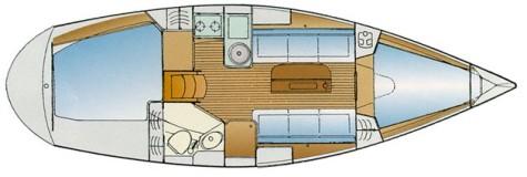 Bavaria 31 Cruiser plan-15