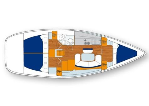 Beneteau Cyclades 39.3 plan-30