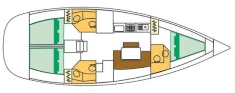 Beneteau Cyclades 43.3 plan-31