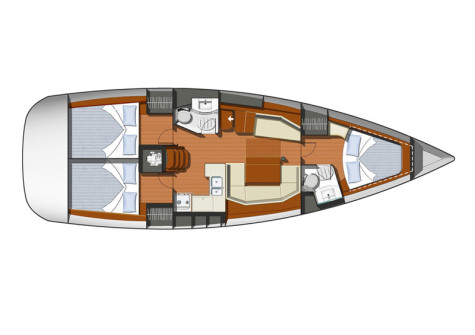 Sun Odyssey 42i plan-50