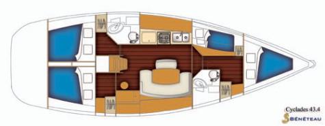 Beneteau Cyclades 43.4 plan-61