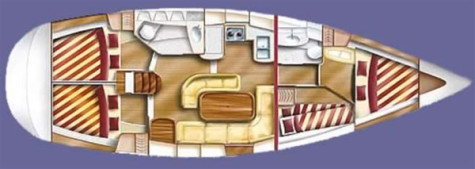 Dufour Gib Sea 43 plan-74