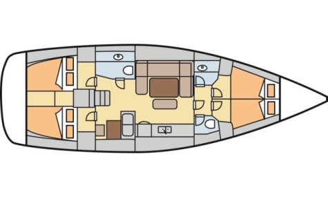 Dufour 450 Grand Large plan-75