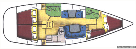 Sun Odyssey 43 DS plan-80