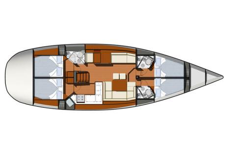 Sun Odyssey 50 DS plan-86