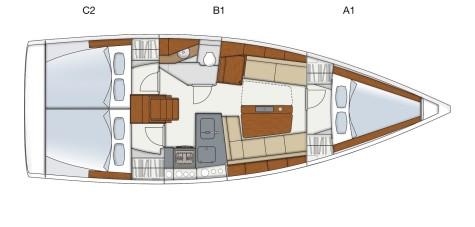 Hanse 345 layout-hanse-345-268345