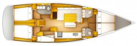 Sun Odyssey 509 plan-5-kabina