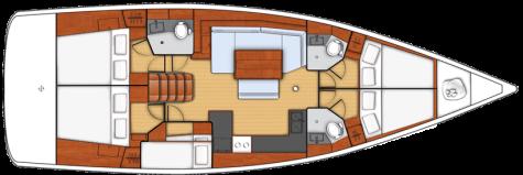 Beneteau Oceanis 48 plan-5kabina