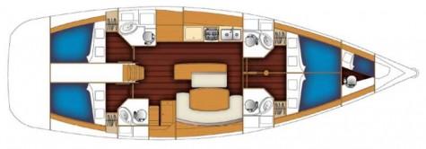 Beneteau Cyclades 50.4 plan-92